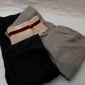 GARAGE  Sweater Leggings Light Tan and Dark Gray